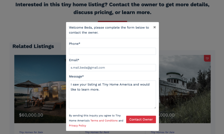 Contact Listing Owner as Prospect