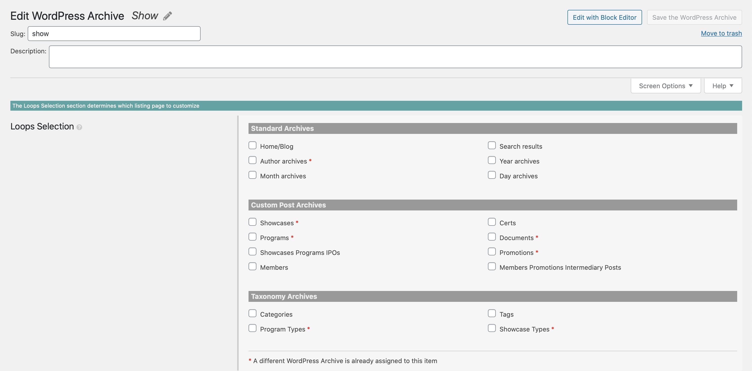 Create a Classic WordPress Archive