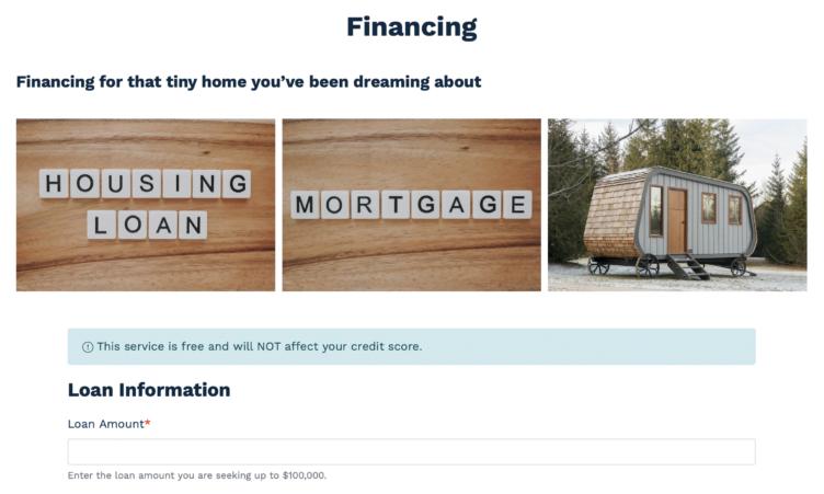 Custom Financing Plan Form