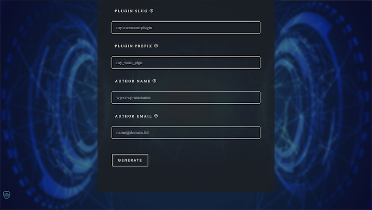 Generate Plugin Form Submit