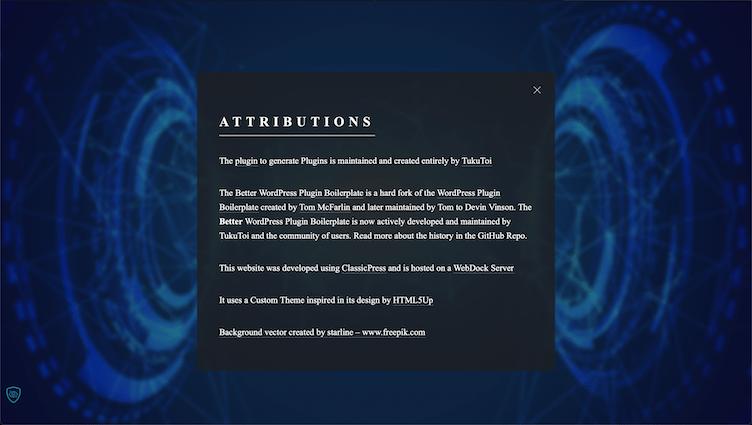 Generate Plugins Attributions