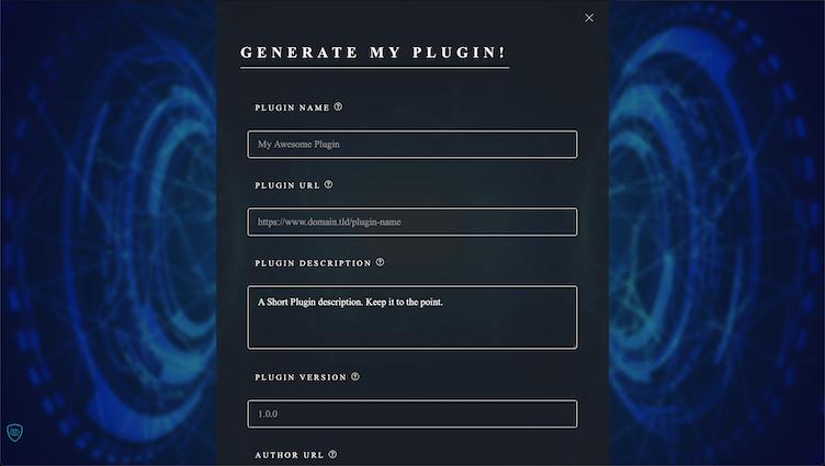 Generate Plugins Form