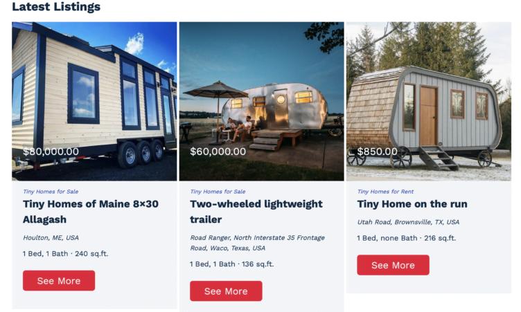 Tiny Homes Listing