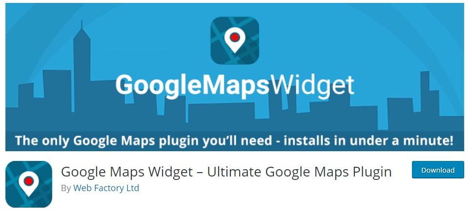 Google map widget